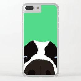 Begging Border Collie Clear iPhone Case