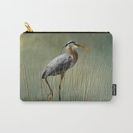 Great Blue At The Beach Carry-All Pouch