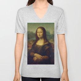 Classic Art - Mona Lisa - Leonardo da Vinci Unisex V-Neck