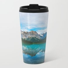 The Mountains and Blue Water Metal Travel Mug