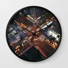 Taxi Central Wall Clock