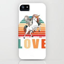 Koala Riding Unicorn Shirt, Koala Art, Unicorn Gift, Unique Animals Lover, Australian Koala Bear iPhone Case