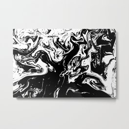 Black liquid ink 3 Metal Print