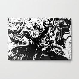 Black liquid ink 3 Metal Print