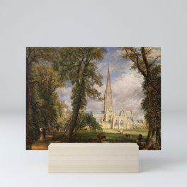 """John Constable """"Salisbury Cathedral from the Bishop's Garden"""" Mini Art Print"""