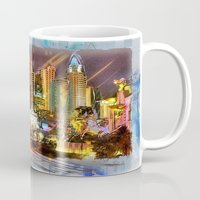 las vegas Mugs featuring Vegas by Robin Curtiss