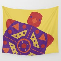 turtle Wall Tapestries featuring Turtle by Claire Lordon