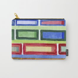 Narrow Frames in Vertical Rows Pattern Carry-All Pouch