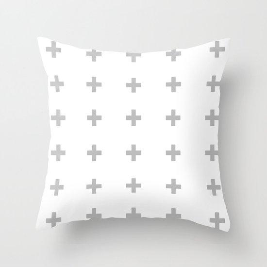 +++ (Gray) Throw Pillow