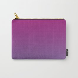 Pantone Chive Blossom Purple 18-3634 and Vivacious Red 19-2045 Ombre Gradient Blend Carry-All Pouch