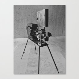 Vintage Cinema Camera Canvas Print