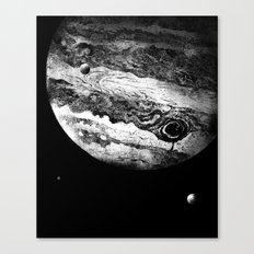 Jupiter & 3 Minions Canvas Print