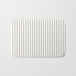 Pussy Willow Pinstripe on White Bath Mat
