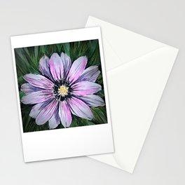 Pink Daisy mixed media painting Stationery Cards