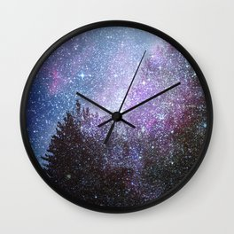 Stars forest..... Cosmic. Wall Clock