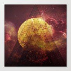 Retro Nebula Canvas Print