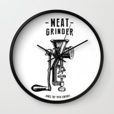 Meat Grinder Wall Clock