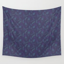 Purple Thistle Wall Tapestry