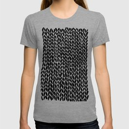 Hand Knit Black T-shirt