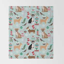 Chihuahua christmas best gifts for chihuahua owners dog pet portraits pet friendly Throw Blanket