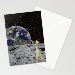 Girl on the Moon Stationery Cards