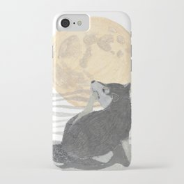 SHIBA INU, MOON, DOG iPhone Case