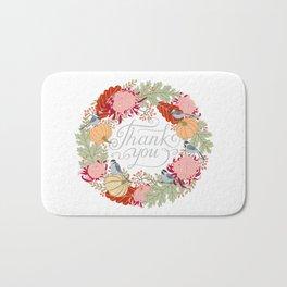 Thanksgiving thank you card Bath Mat