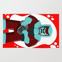 spaceman Area & Throw Rugs featuring Spaceman by subpatch