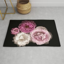 Purple, Pink, and White Roses Rug