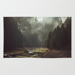 Foggy Forest Creek Rug