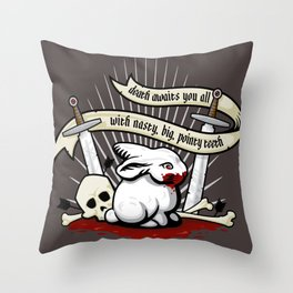 The Rabbit of Caerbannog Throw Pillow