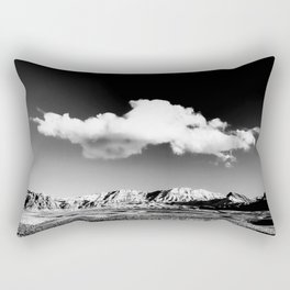 Black Sky Desert Landscape // Red Rock Canyon Las Vegas Nevada Mojave Mountain Range Rectangular Pillow