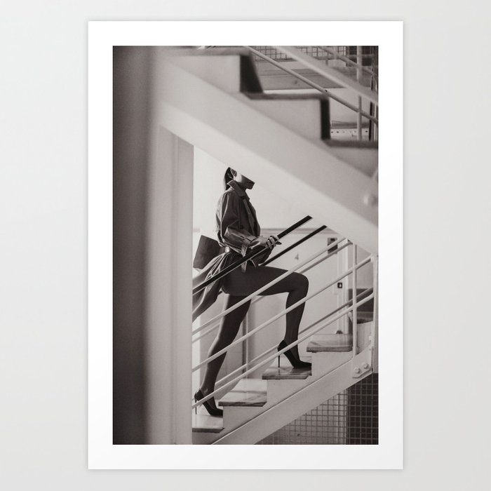 in the stairwell Art Print