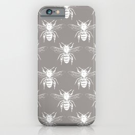 The Bee's Knees Taupe iPhone Case