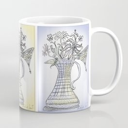 Pitcher with Flowering Plants (blue) Coffee Mug