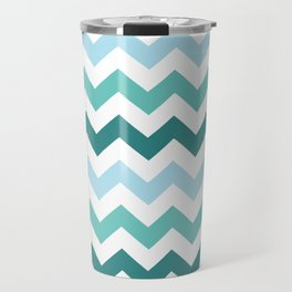 Chevron forest Travel Mug