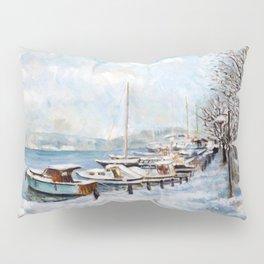 Tarabya,Istanbul in snow Pillow Sham