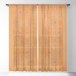 Moroccan silk in orange Sheer Curtain