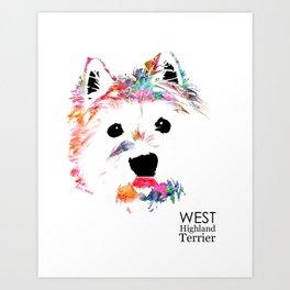 Max the Westie Art Print