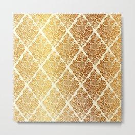 Gold florals Metal Print