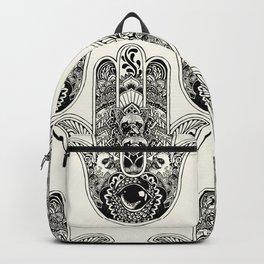 Hamsa Hand French Bulldog Backpack