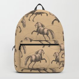 Galloping Spanish Horses Backpack