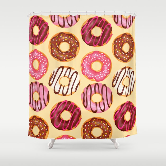 Crazy donuts Shower Curtain