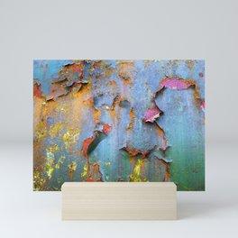 Peeling paint and rust textures 135 Mini Art Print