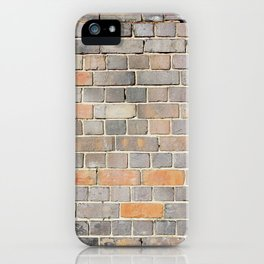 Ireland flag on a brick wall iPhone Case