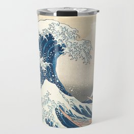 The Great Wave off Kanagawa by Katsushika Hokusai from the series Thirty-six Views of Mount Fuji Travel Mug