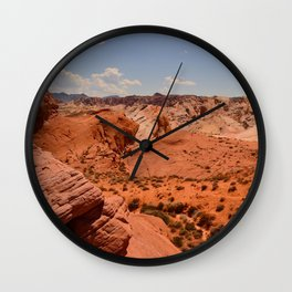 Red Valley II Wall Clock