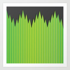 Japanese Plastic Grass Art Print