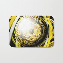 Wake the Bee, an Autobot Fractal Tribute to Bumblebee Bath Mat