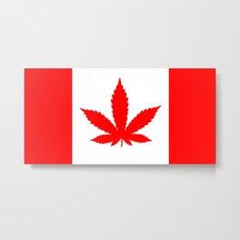 Canadian Weed Flag Metal Print